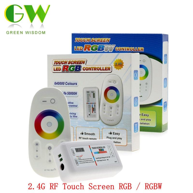 2.4g RGB/RGBW HA CONDOTTO il Regolatore 3 Canali 18A DC12-24V Touch Screen di Controllo Remoto per RGB/RGBW LED striscia