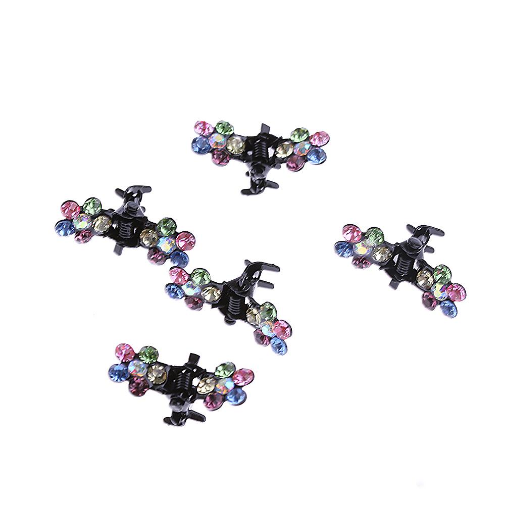 HTB1hMdqQVXXXXavaXXXq6xXFXXXV Bejeweled 12-Pieces Rhinestone Crystal Flower Mini Barrette Hair Claw For Women - 7 Colors