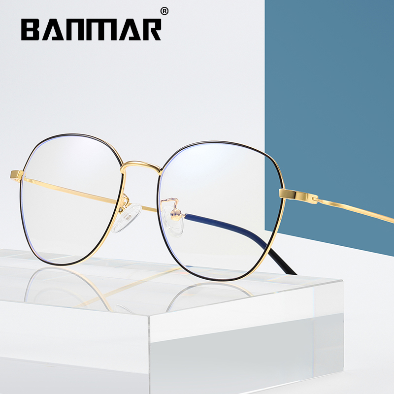 BANMAR Anti Blue Glasses Frame Women Men Computer Glasses Optical Myopia Prescription Spectacle Eyewear oculos de grau 1912 in Women 39 s Blue Light Blocking Glasses from Apparel Accessories