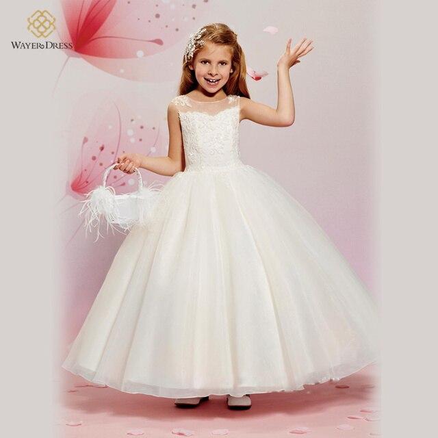 Kleine Mädchen Prinzessin Erstkommunion Kleider Für Blume Mädchen ...
