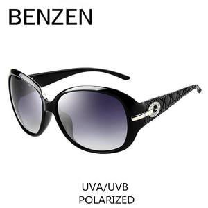 3b29d01e67f Sunglasses Women Polarized Elegant Rhinestone Ladies Sun Glasses Female  Sunglasses Oculos De Sol BENZEN Shades With Case 6008