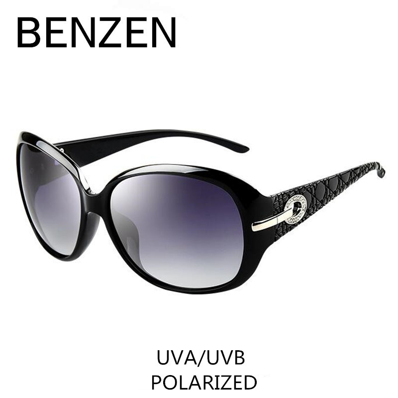 Sonnenbrille Frauen Polarisierte Elegante Strass Damen Sonnenbrille Weibliche Sonnenbrille Oculos De Sol BENZEN Shades Mit Fall 6008