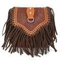 Pu женщин Crossboday сумка регулируемыми ремнями кисточкой светло-коричневый