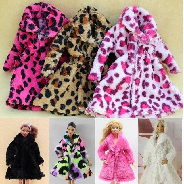 Roupa Roupas Vestidos de 15 tipo de Alta Qualidade Da Moda Artesanal Cresce casaco de Flanela para o vestido de Boneca Barbie para as meninas melhor presente
