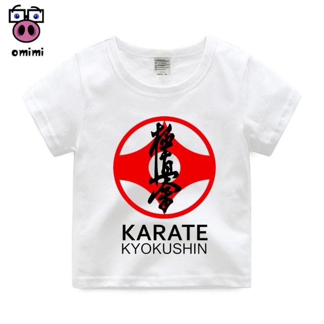 Camiseta para niños chico Kyokushin Karate Kanji y diseño de símbolo estampado  camiseta niño niña verano 2bd380e01c8cd