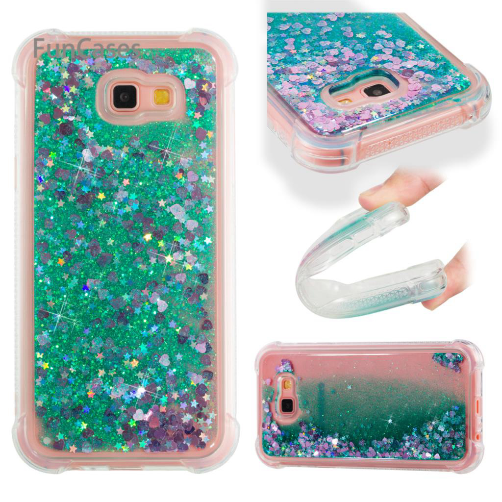 Glitter Case sFor Ajax Samsung A720 Soft TPU Back Cover Cellular Glossy Phone Case sFor Samsung Galaxy A7 2017 Cheap Coque Skal