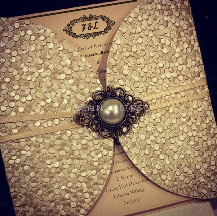 Aliexpresscom Buy HI7006 Perfect Embossed Dark Gold Wedding