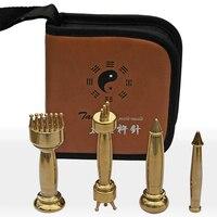 Fine Copper Pestle Needle Massager Gua Sha Massage Stick Mr Li Massotherapies 4pcs Set