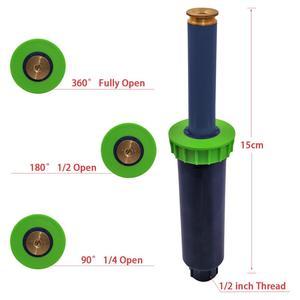 Image 2 - 90 360 stopni 4 sztuk/partia zraszacz ogrodowy automatyczny chowany System nawadniania miedziana dysza # GW00106