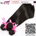 8A Brazilian Straight Hair 3 bundles West Kiss Virgin Unprocessed Human Hair Wave Bundles Deal ali pearl hair weave bundles