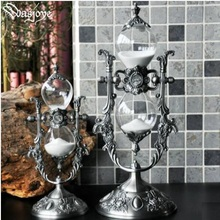 Europe retro15 minutes / 30 minutes metal hourglass ampulheta hourglass hourglass timer for home decorationHg004 hot selling vintage hourglass ampulheta crafts sand clock hourglass timer home decoration accessories for birthday gift lfb110