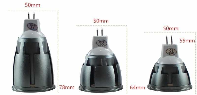 Сверхъяркий Регулируемый GU10/MR16 COB 9 W 12 W 15 W светодиодный лампы AC110V/220 V DC 12 V прожектор теплый белый холодный белый светодиодный светильник