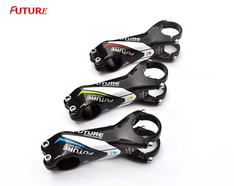 Newest FUTURE Road MTB Bicycle Stems Full Carbon Fibre Bike Stem with Table Rack Screws Cycling Bike Parts Accessories newest raceface next sl road bike ud full carbon fibre saddle spider web mountain bicycle front seat mat mtb parts free shipping