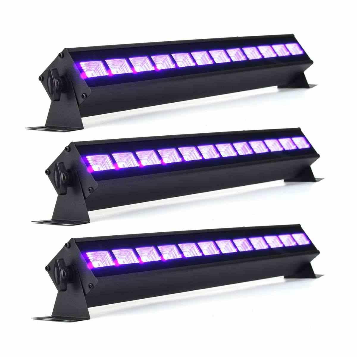Led Uv ブラックライト舞台照明エフェクト屋内バー DJ ディスコパーティー 36 ワット 12 LED ブラックライト UV ランプ LED ストリップライトパーティークラブ