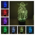 Yoda Led Table lamp 3D Touch Control Night 7 Colors Change USB LED Desk Table Light Lamp Power Bank Abajur Night Light