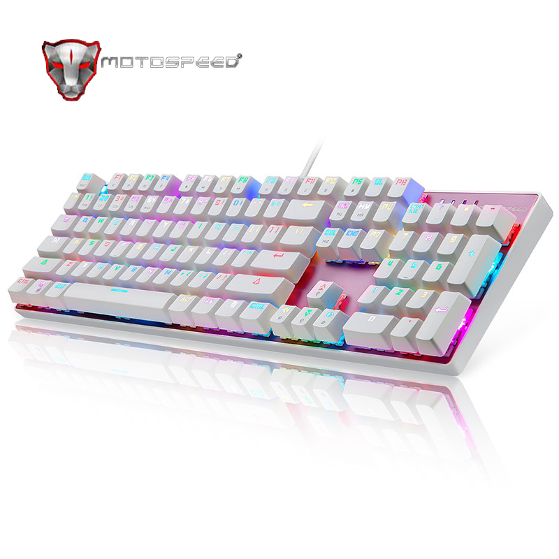 ФОТО Motospeed 100% Original Full Key Inflictor CK104 Mechanical Keyboard Switches Backlit RGB Backlight Professional Gamer #728
