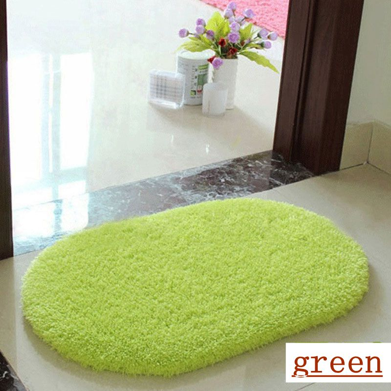 Aliexpress Buy Fashion Design 2016 Hot Sale Living Room Carpet Nine Colors Bath Mat Soft Touch High Qulity Oval Bathroom From Reliable