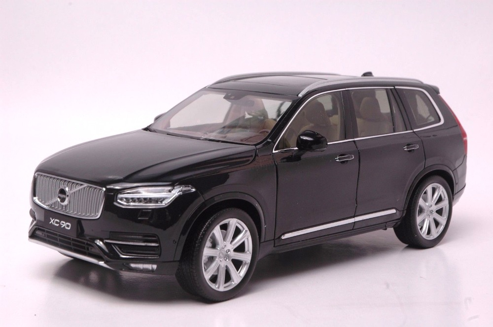 1:18 Diecast Model for Volvo XC XC90 2015 Black SUV Alloy Toy Car Collection S60 premiumx 1 43 yuan bao 1968 volvo 164 rich 164 alloy models prd247