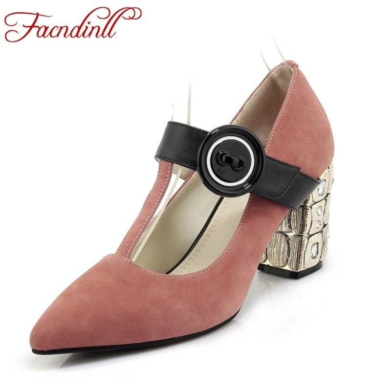 Schuhe Black strap Heels pink Aus Kleid Neue Echtem Mode 2018 Party High Pumpen Frauen Leder Weibliche T nXqZBBT6
