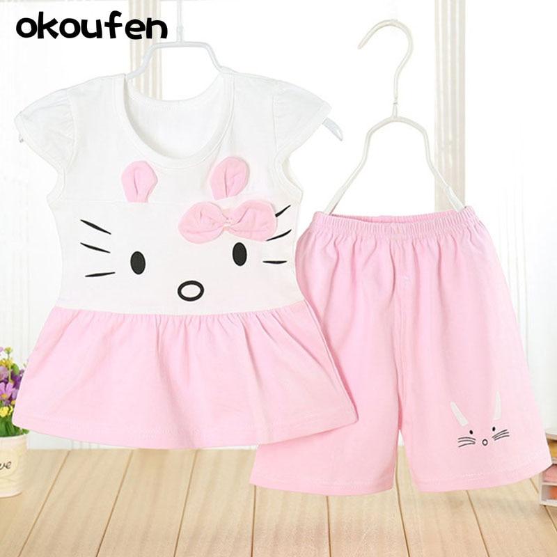 OKOUFEN factory Store Children's summer wear small and medium sized children's cotton skirt dress skirt