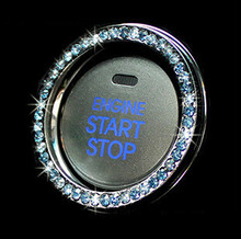 universal Car Key Ring key push button ignition decoration ring cover sticker Engineer star stop car key ignition switch cover