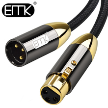 EMK XLR Cable Microphone Audio Sound Cable XLR Male to Female Extension XLR Cable for Mixer Stereo Camera Amplifier cls rj45 xlr 3 pole female cable