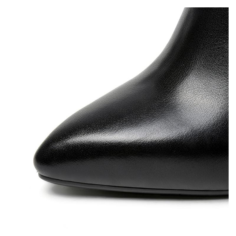 Femmes Mince Punk Zip Bottes Chaussures Martin Boucle Boot En Côté grey Pointu Dame Bout Métal Cheville Talons De Black À Haute Adolescentes fxAPSAwq7B