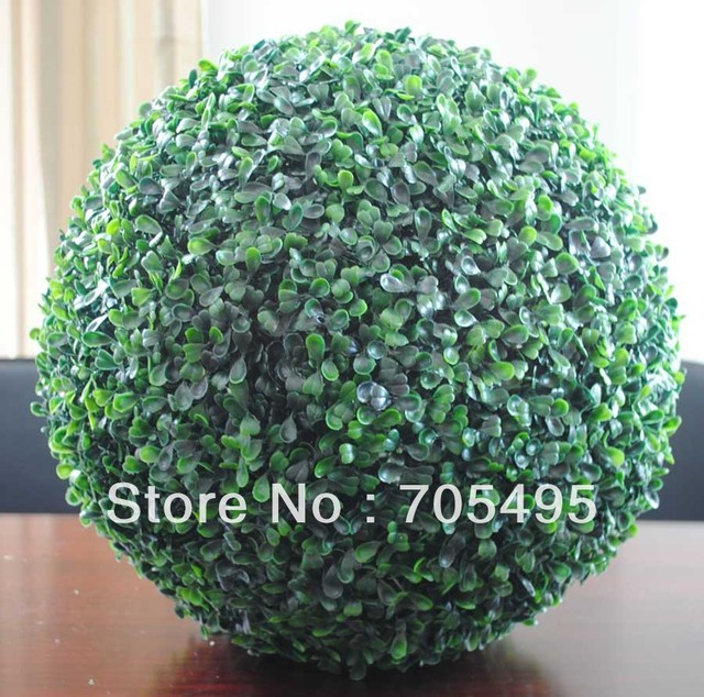Free Shipping 12pcs/lot  9'' Artificial Boxwood Grass Ball Artificial Buxus Ball
