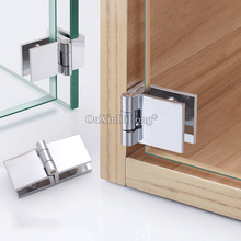 DHL Shipping 50PCS Zinc Alloy Glass Cabinet Hinges Display Wine Hinge Fixed Holder Clamps for 5-8mm