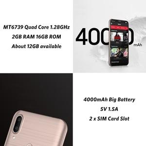 Image 5 - LEAGOO M11 2GB 16GB Mobile Phone Android 8.1 6.18 MTK6739 Quad Core 4000mAh 8MP dual camera Fingerprint Face ID 4G Smartphone