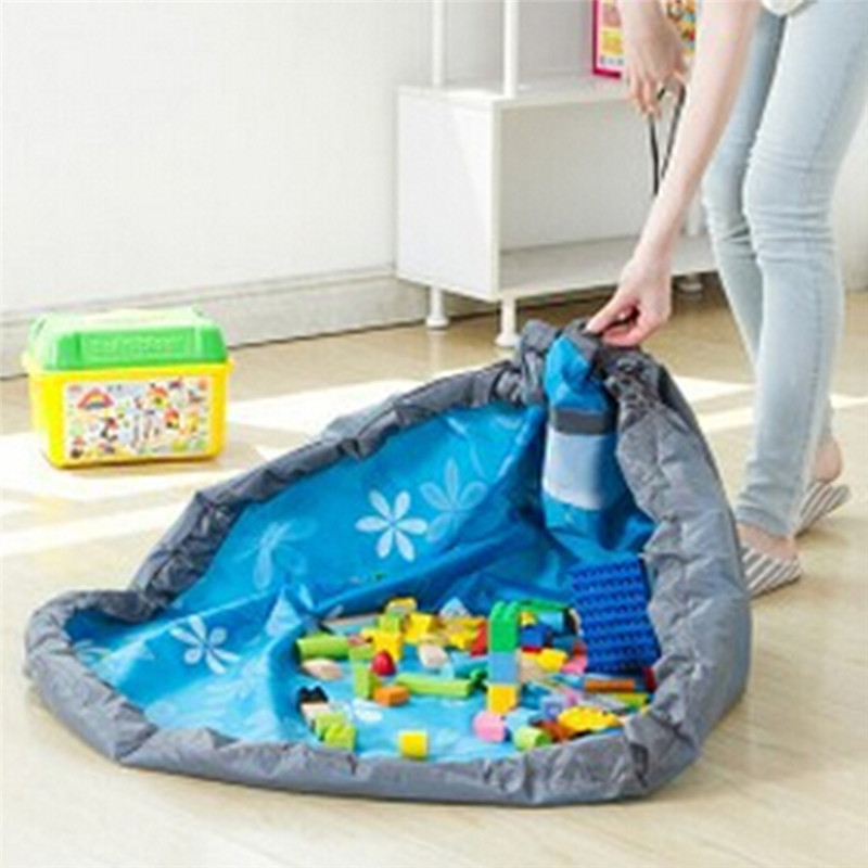 Portable Kids Toy Storage Bag And Play Mat Lego Toys