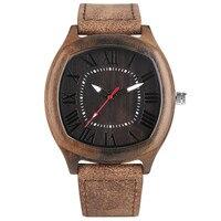 Vintage Mężczyźni Kobiety Drewniany Zegarek Elegancki Plac Wood Grain Case Roman Numer Wybierania Biznes Mężczyzna Kobieta Dress Zegarek Prezent Zegar