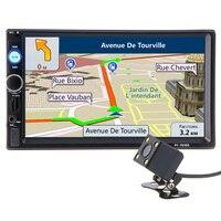 2 din 7 inch HD Car Radio GPS Navigation Player Camera Bluetooth AUX MP3 MP5 Stereo FM Audio USB Auto Electronic 2din Autoradio