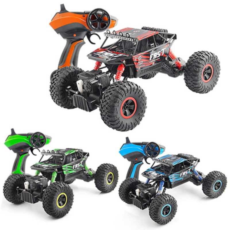 Rechargeable 2.4GHz Rock Rally 4x4 Double Motors Bigfoot Car Remote Control Model Off-Road Vehicle dirk bike toys Gift