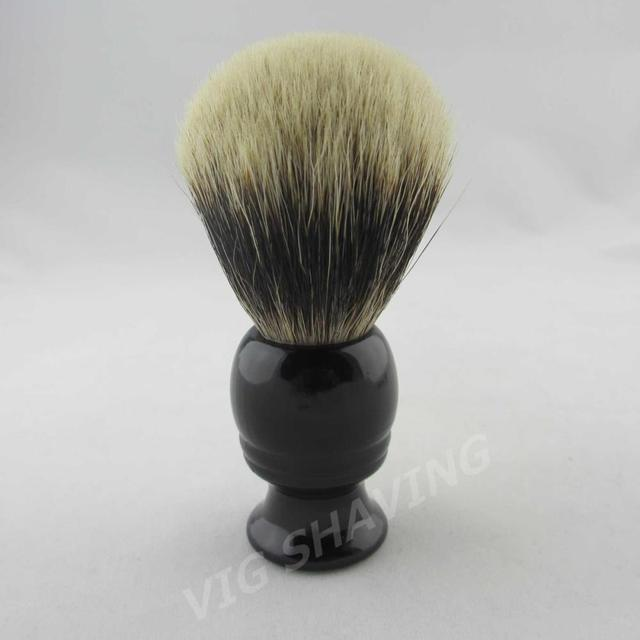 Finest badger shaving brush black wood handle FI0422BL knot 21mm