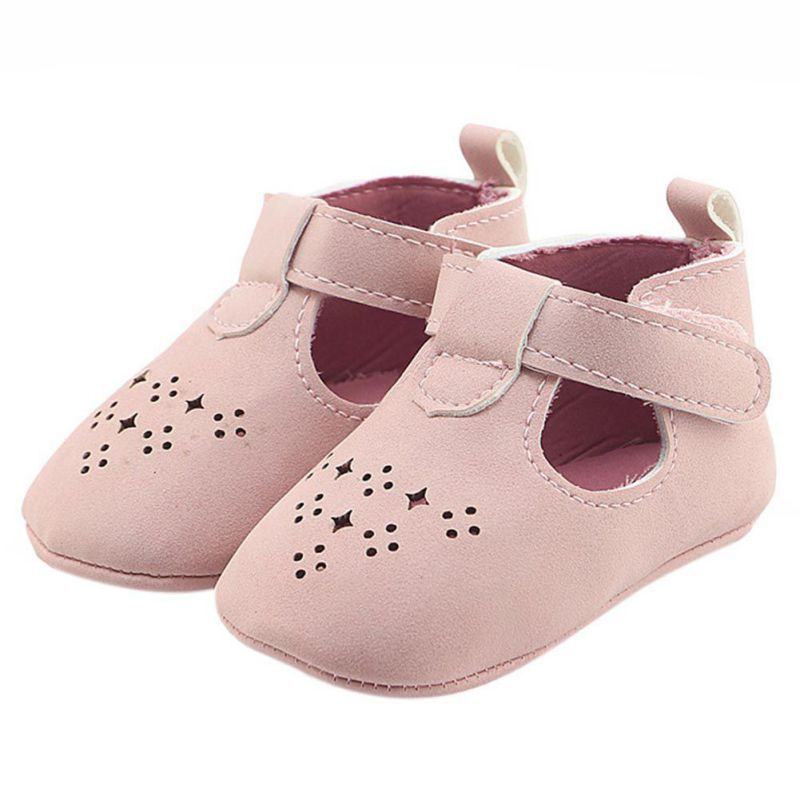 Baby Hollow Out First Walkers Newborn Autumn Summer Shoes Boys Girls PU Leather T-bar Infant Toddler Baby Shoes