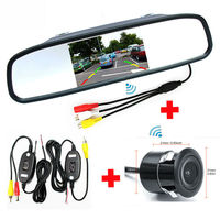 Car Parking Rearview TFT LCD Mirror Video Monitor with Rear View Backup Camera + 2.4Ghz Wireless Set