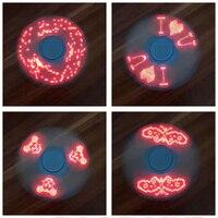 Fidget Spinner Led Hand Spinner Lumineux Light ABS EDC Spinner Led Glow In The Dark Spiner