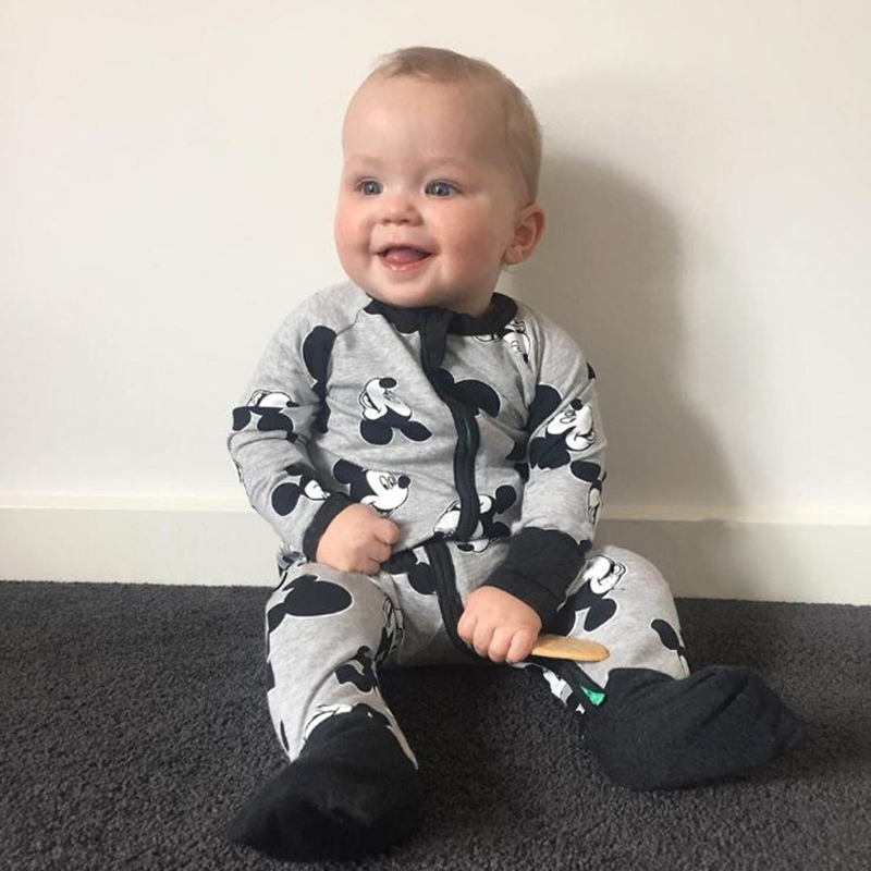 2017 Time-limited Full Baby Rompers Brand Girls Toddler Cotton Pajamas ropa de bebe Mickey Infant Jumpsuits Newborn Boys Clothes newborn baby rompers baby clothing 100% cotton infant jumpsuit ropa bebe long sleeve girl boys rompers costumes baby romper