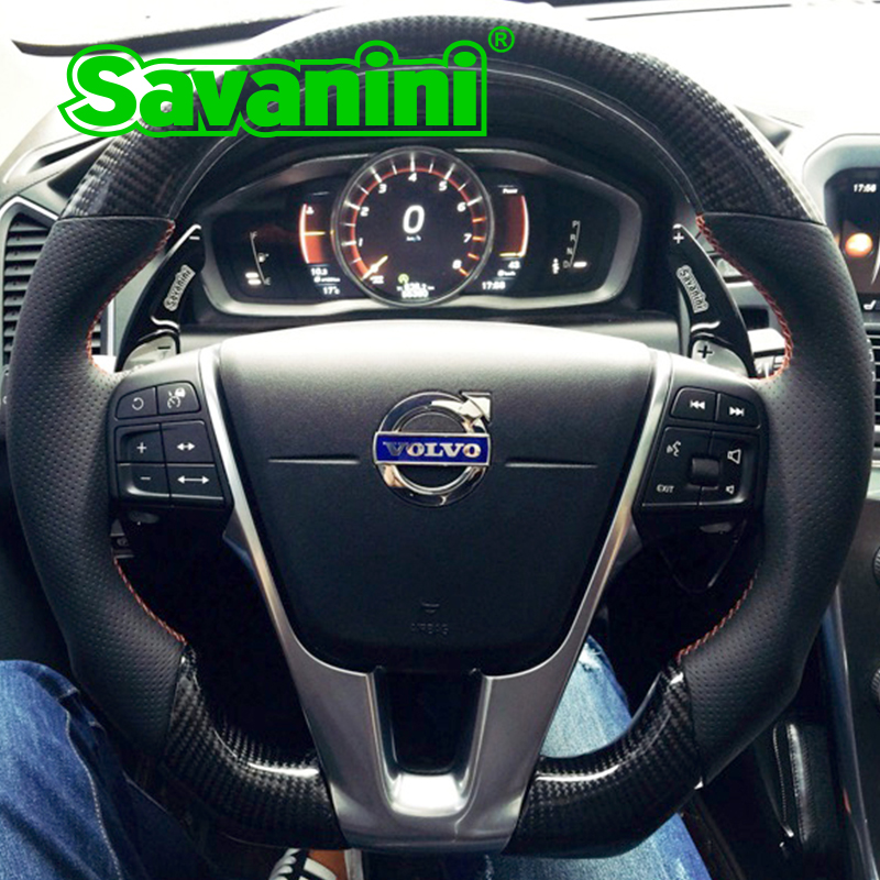 Savanini Aluminum Steering Wheel DSG Shift Paddle Shifter Extension For Volvo S60L XC60 V40 V60 XC60