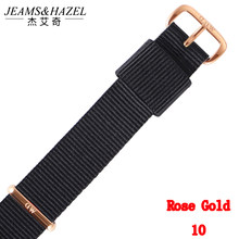 Top brand Quality 18mm 20mm nylon rose gold silver lovers men women dw watch strap for daniel wellington watchband for Gift(China)