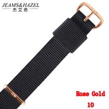 Top brand Quality 18mm 20mm nylon rose gold siliver lovers men women dw watch strap for daniel wellington Gift Relogio Feminino цена
