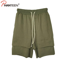 Europäischen Und Amerikanischen Hallo-straße Mann Shorts Falsche Zwei Stücke Harem Shorts Hiphop Kordelzug Casual Hosen Mode für Männer Kleidung