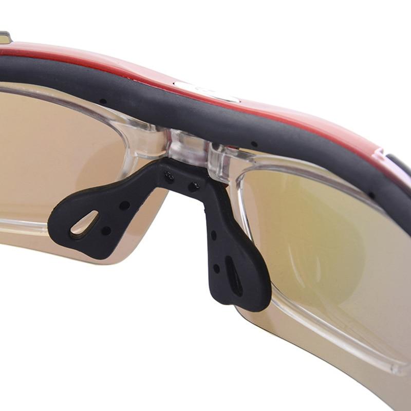 Polarized Sports Sunglasses Men Sun Glasses UV400 Protection Eyewear Night Vision Plus 5 Lens