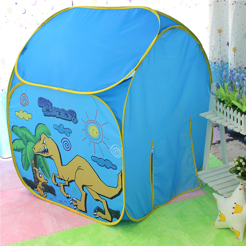 Child Tents Indoor Play House Baby Princess Blue Printing Real Children Toys Baby Outdoor Ocean Ball Pool Tent For Children