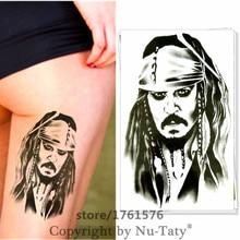M-Theory Pirate Captain Jack Temporary Tattoos Body Art Arm Flash Tatoos Stickers 12x20cm Swimsuit Dress Makeup