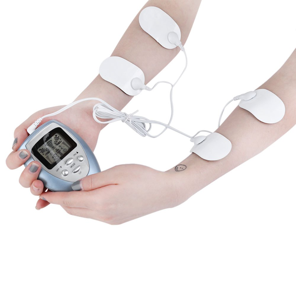 Portable Design Slimming Electric 4 Pads Full Body Plastic Massager Kit Slim Pulse Muscle Relax Fat Burner Hot Selling