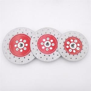 DIATOOL Double Sided Vacuum Brazed Diamond Cutting Grinding Disc M14 Thread Cutting Shaping Polishing Stone porcelain wheels(China)