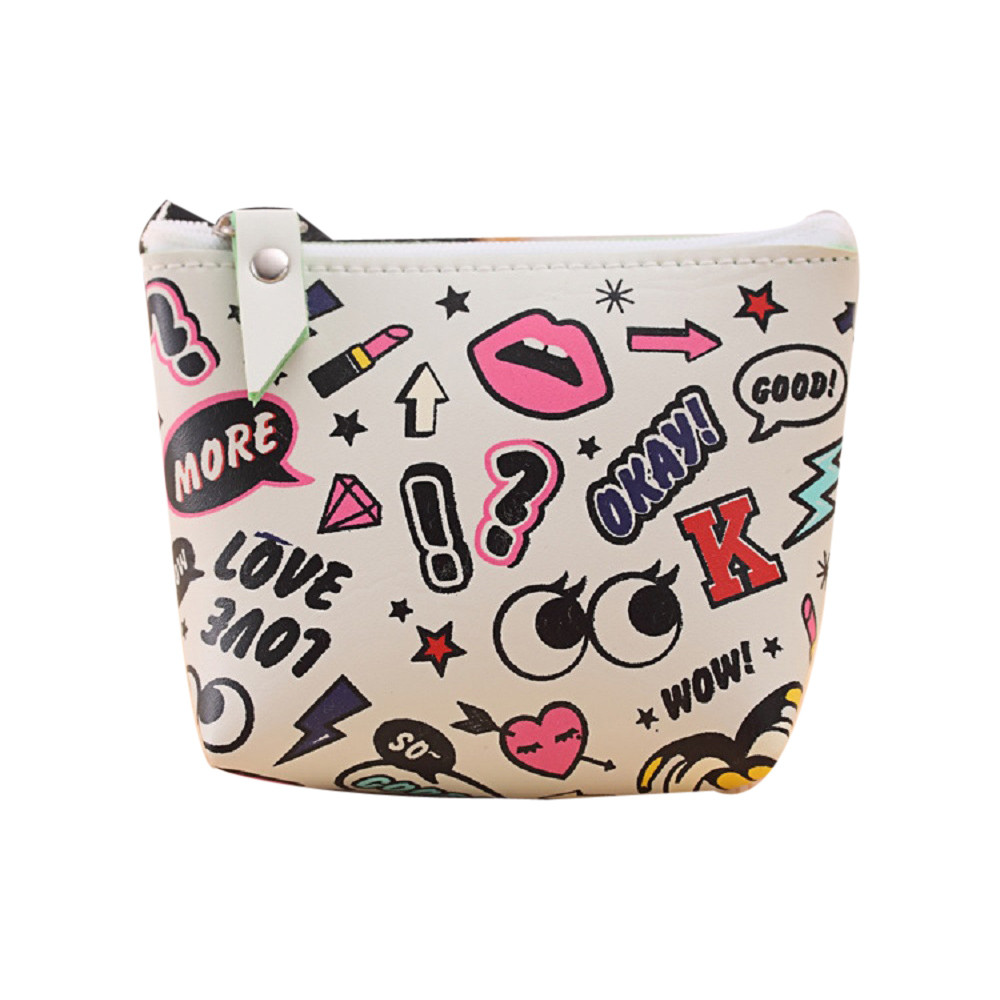 Fashion Coin Purse Mini Wallet Women Girls Cute Bag PU Leather Pouch Change Pouch Key Holder Girls Handbag