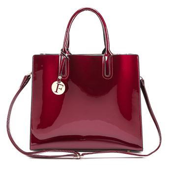 3 Set Patent Leather Handbags